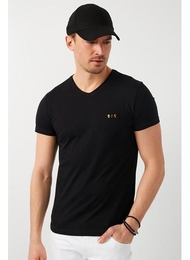 Buratti Buratti V Yaka Erkek T-Shirt 5902076 Siyah